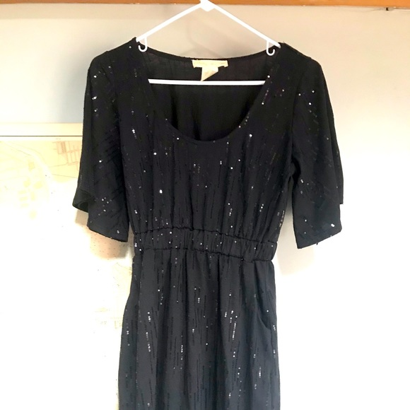 UO Staring at Stars Black Sequined Dress - S